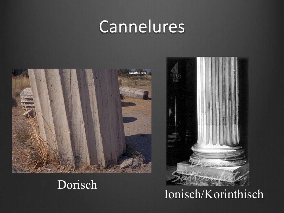 Cannelures Ionisch/Korinthisch Dorisch