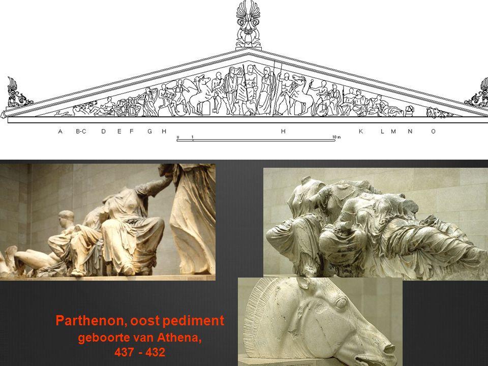 Parthenon, oost pediment geboorte van Athena, 437 - 432