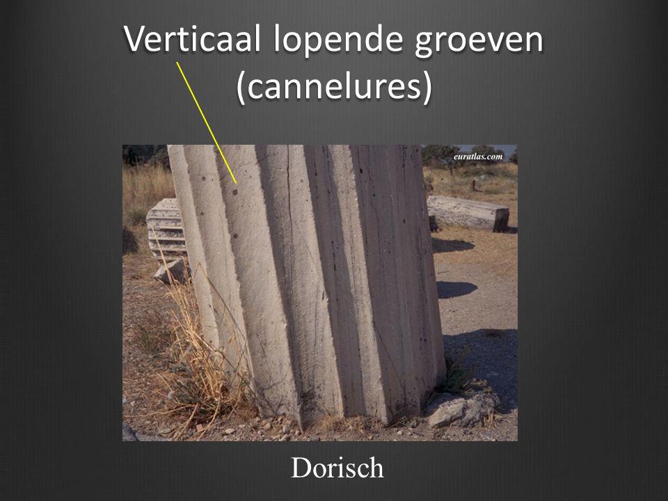 Verticaal lopende groeven (cannelures) Dorisch