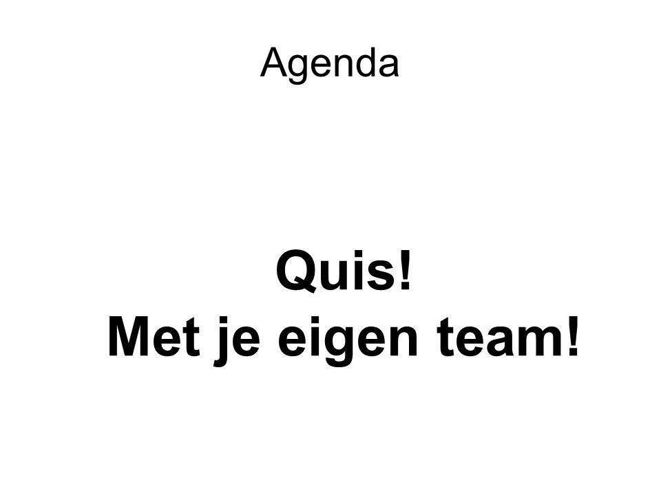 Agenda Quis! Met je eigen team!