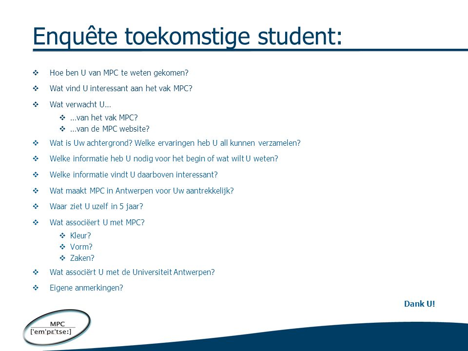 """VOORBEELD VAN DE UNIVERSITEIT GHENT Rood = suggesties voor """"toekomstige student"""