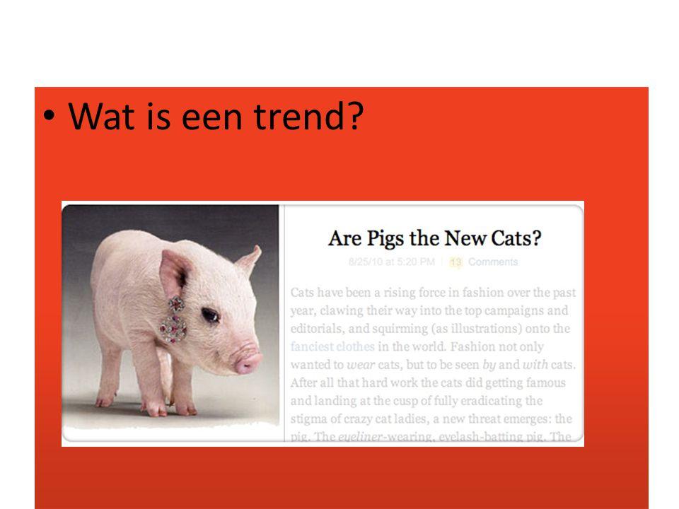 Wat is een trend?
