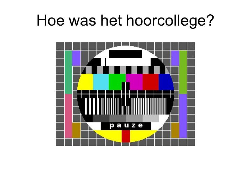 Hoe was het hoorcollege?