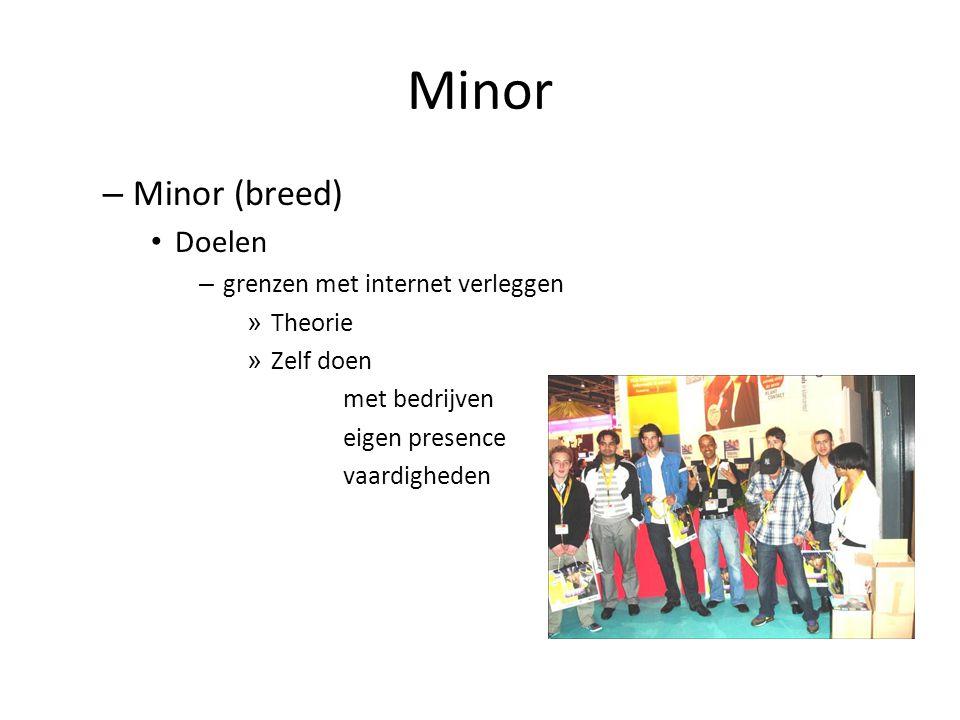 Minor – Minor (breed) Doelen – grenzen met internet verleggen » Theorie » Zelf doen met bedrijven eigen presence vaardigheden