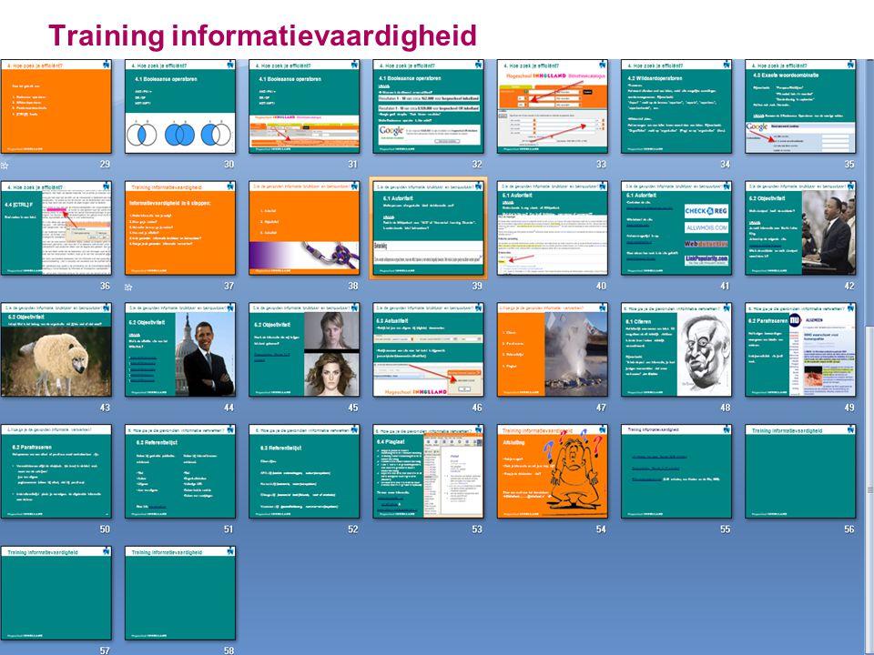 Training informatievaardigheid 11