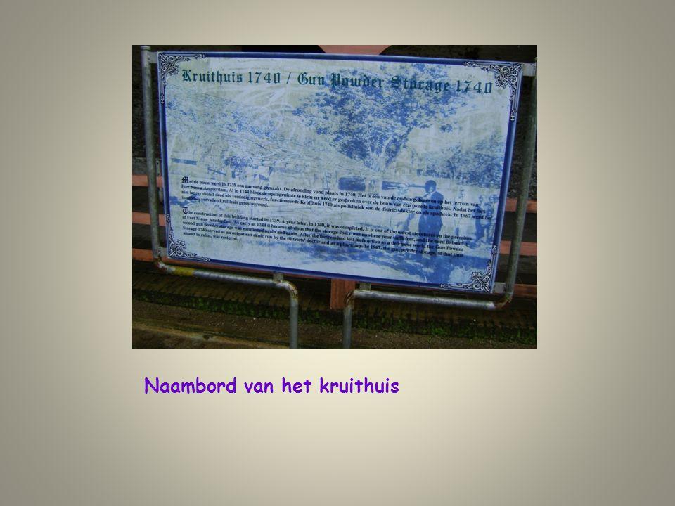 Naambord van het kruithuis