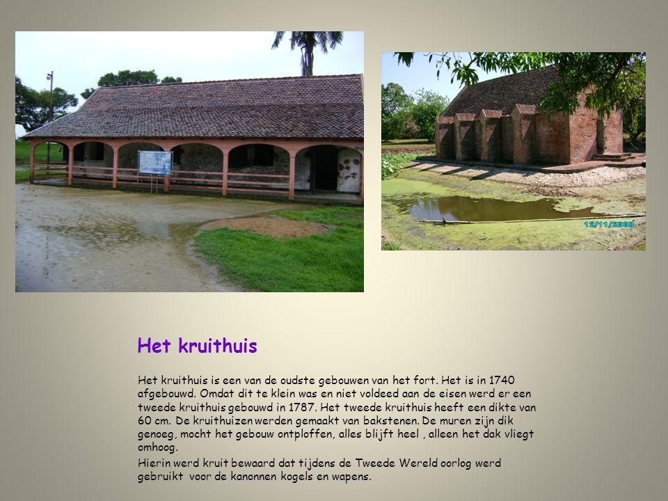 Het kruithuis Het kruithuis is een van de oudste gebouwen van het fort. Het is in 1740 afgebouwd. Omdat dit te klein was en niet voldeed aan de eisen