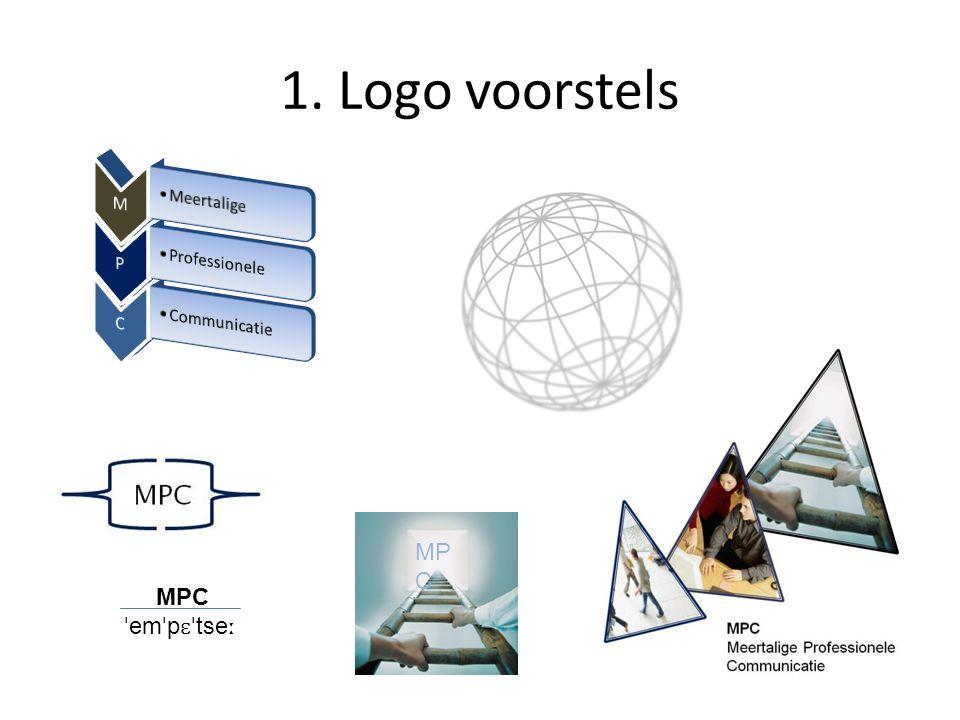 1. Logo voorstels MPC ˈ em ˈ p ɛˈ tse ː MP C
