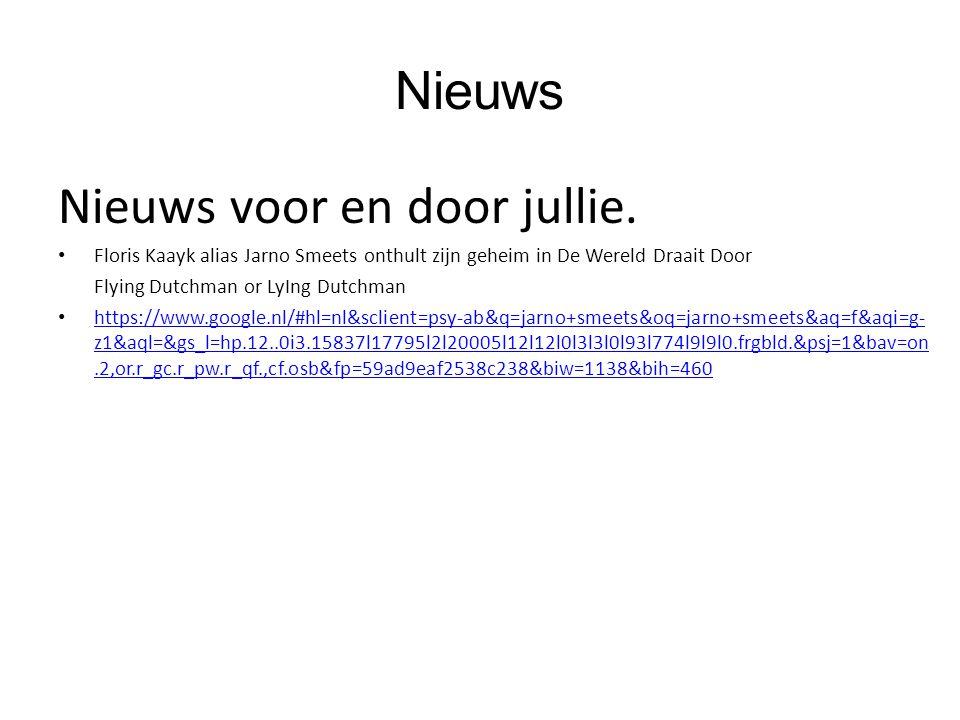 Nieuws Nieuws voor en door jullie. Floris Kaayk alias Jarno Smeets onthult zijn geheim in De Wereld Draait Door Flying Dutchman or LyIng Dutchman http
