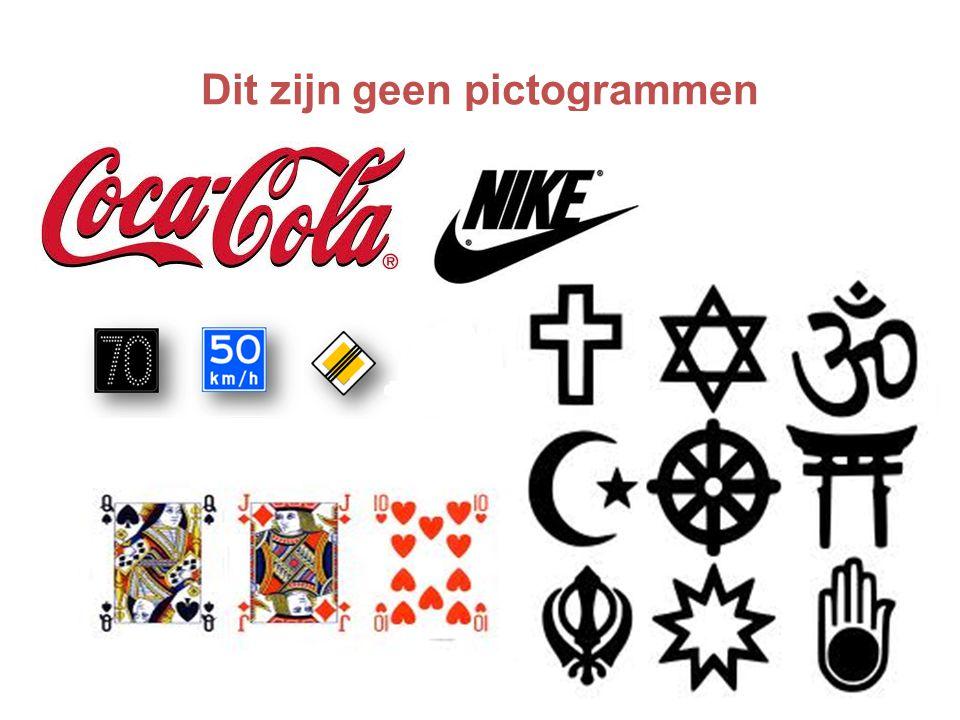 Dit zijn geen pictogrammen
