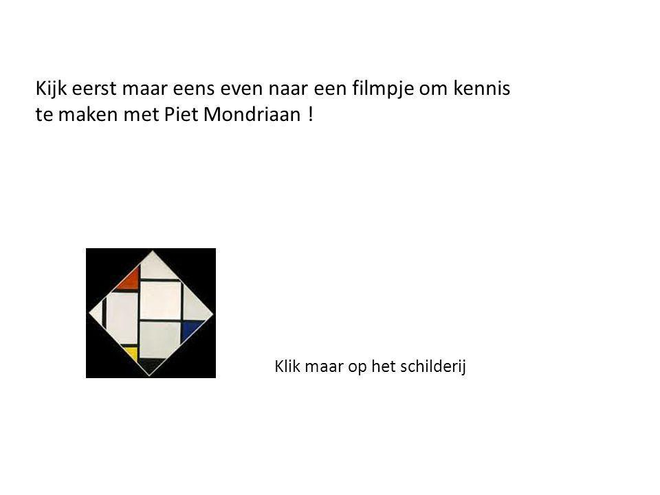 1.In welke tijd/eeuw leefde Piet Mondriaan. 2.