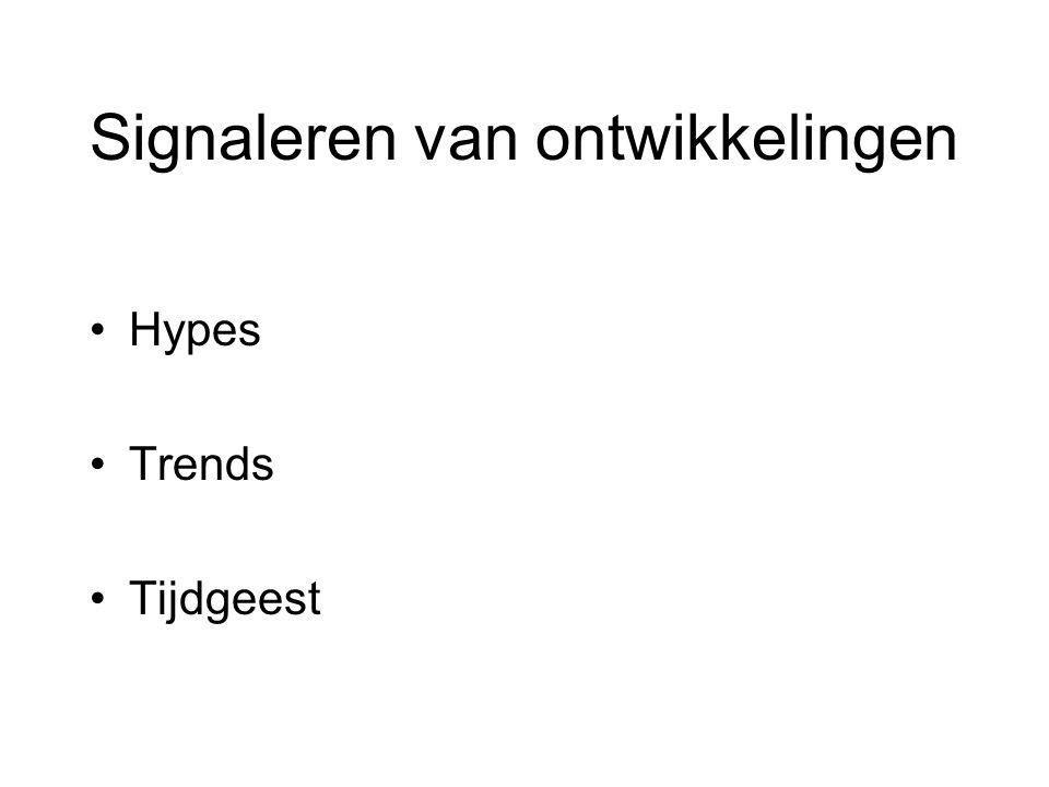 Signaleren van ontwikkelingen Hypes Trends Tijdgeest