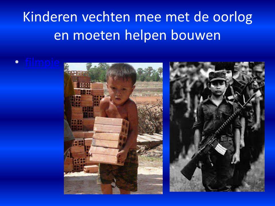 Kinderen vechten mee met de oorlog en moeten helpen bouwen filmpje