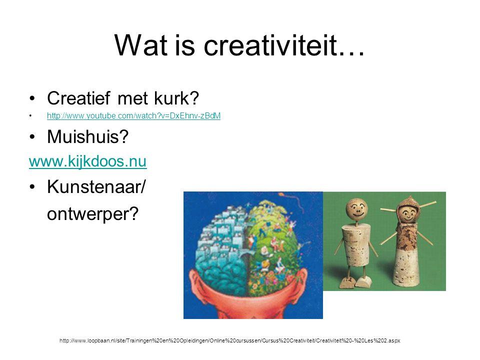 Wat is creativiteit… Creatief met kurk.http://www.youtube.com/watch?v=DxEhnv-zBdM Muishuis.