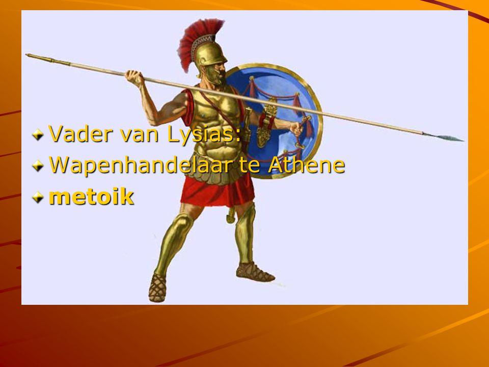 De familie van Lysias wordt op de dodenlijst gezet: