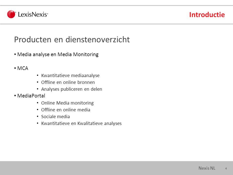 15 Nexis NL Nieuws Wat accepteert LexisNexis Woorden & frases Nummers Afkortingen Amerikaanse / Engelse spelling Zoekt automatisch: Meervoud/enkelvoud Hoofdletters, etc.