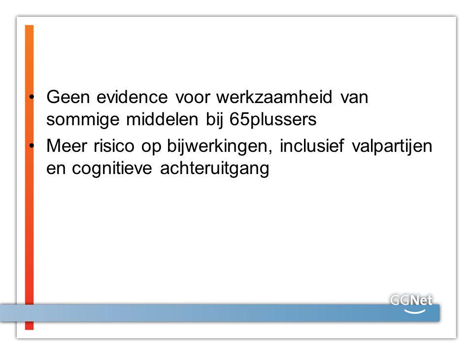 Geen evidence voor werkzaamheid van sommige middelen bij 65plussers Meer risico op bijwerkingen, inclusief valpartijen en cognitieve achteruitgang