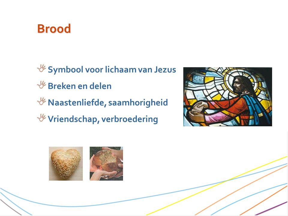 Brood Symbool voor lichaam van Jezus Breken en delen Naastenliefde, saamhorigheid Vriendschap, verbroedering