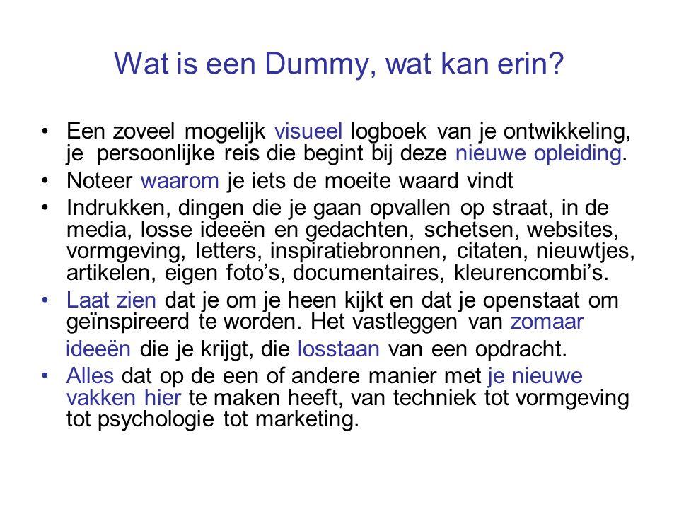 Wat is een Dummy, wat kan erin.