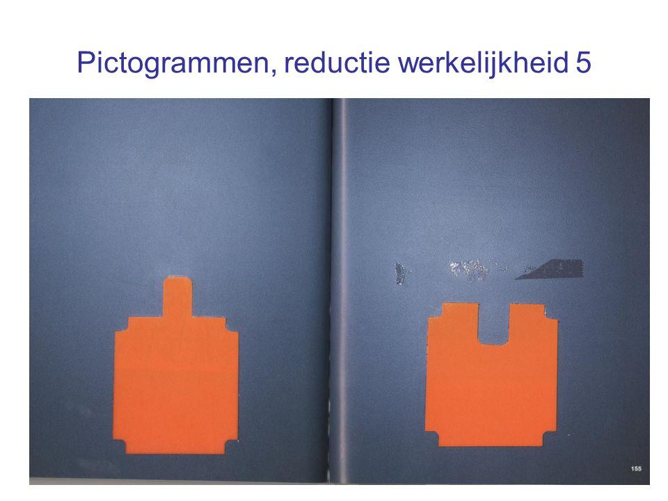 Pictogrammen, reductie werkelijkheid 5