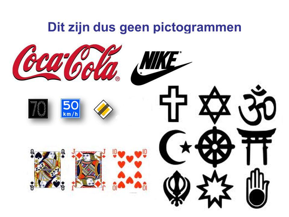 Dit zijn dus geen pictogrammen