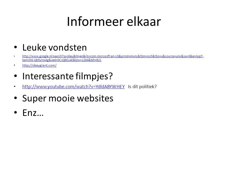 Informeer elkaar Leuke vondsten http://www.google.nl/search?q=obey&hl=en&rls=com.microsoft:en-US&prmd=imvns&tbm=isch&tbo=u&source=univ&sa=X&ei=lyipT-