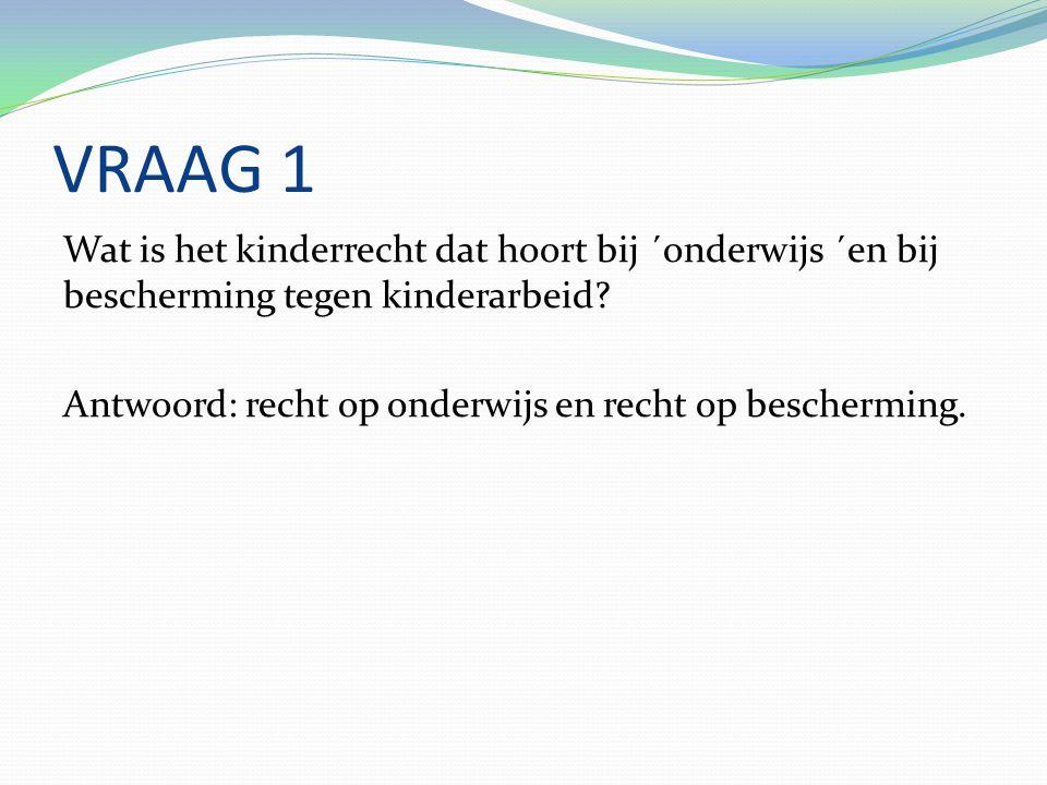 Vraag 2 Wat denk je, gaan alle kinderen in jullie land naar school.