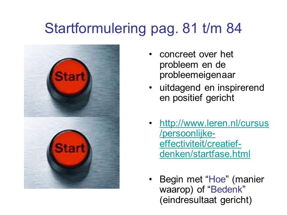 Startformulering pag.
