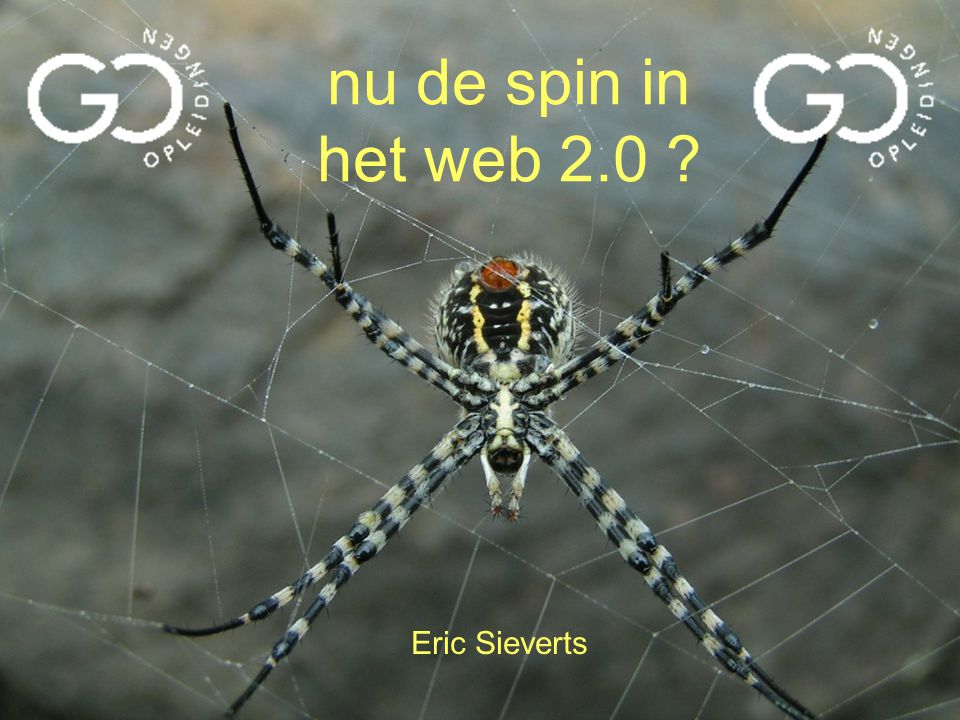 nu de spin in het web 2.0 Eric Sieverts