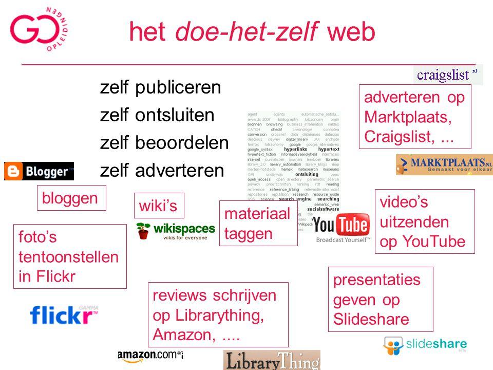 het personaliseerbare en organiseerbare web social bookmarking social/personal searching persoonlijke homepage/startpagina delicious furl connotea citeUlike...