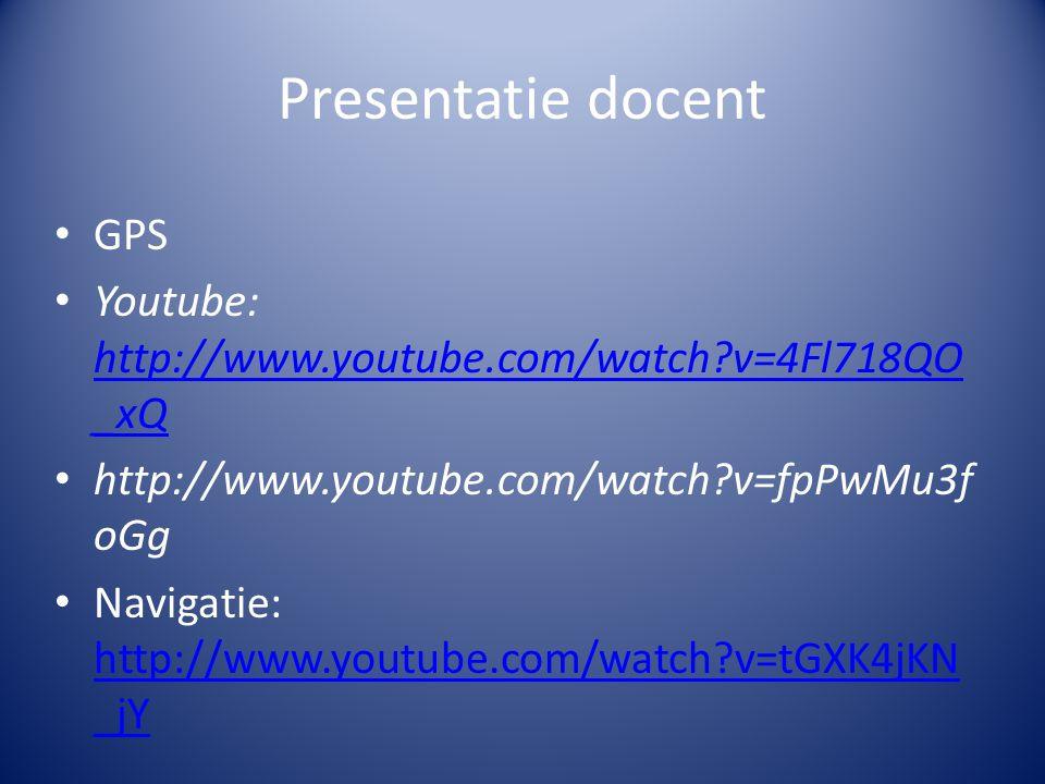Presentatie docent Uitleg : plaatsbepaling
