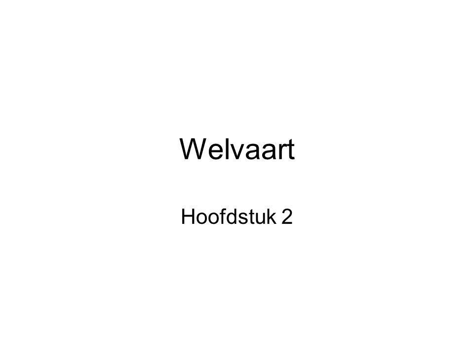 Welvaart Hoofdstuk 2