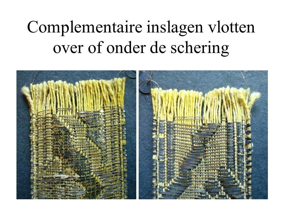 Complementaire inslagen vlotten over of onder de schering