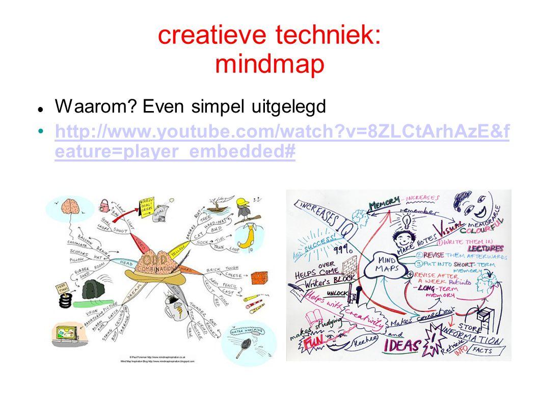 creatieve techniek: mindmap Waarom.