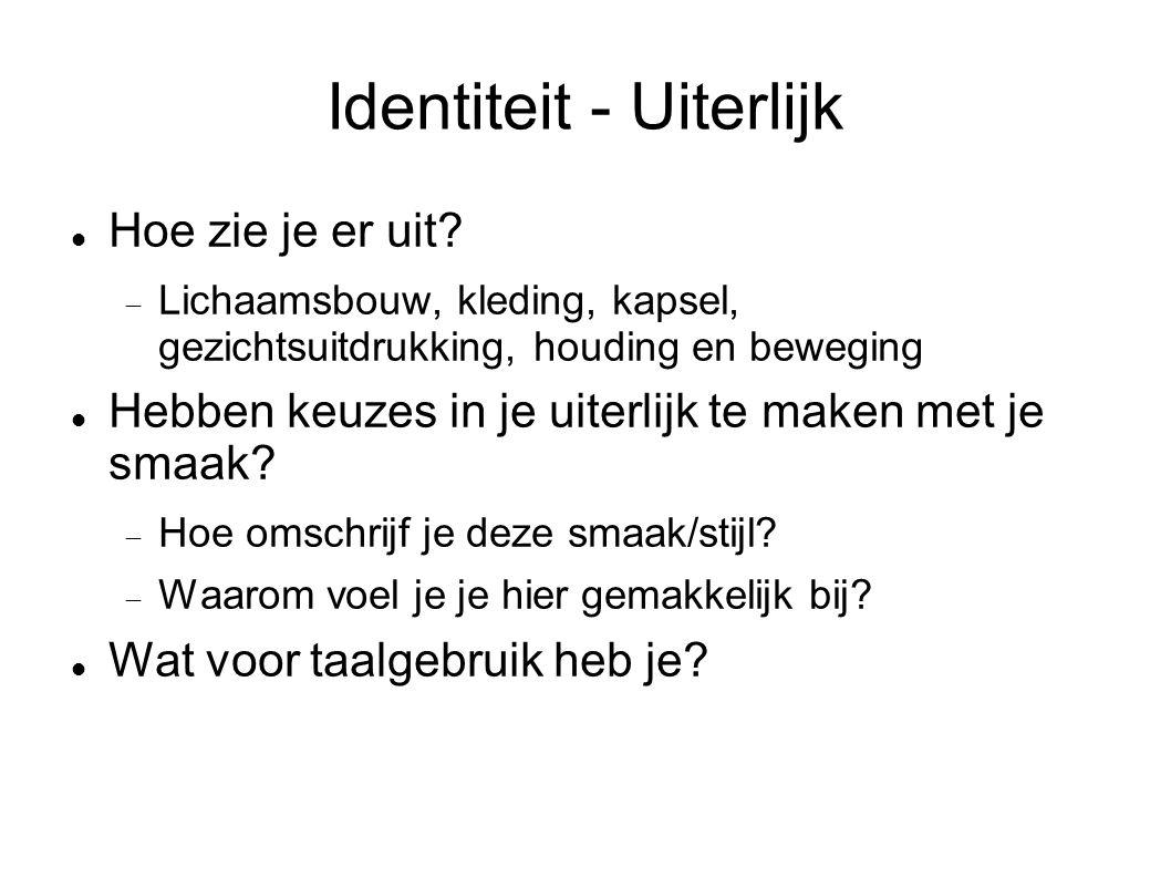 Identiteit - Uiterlijk Hoe zie je er uit.