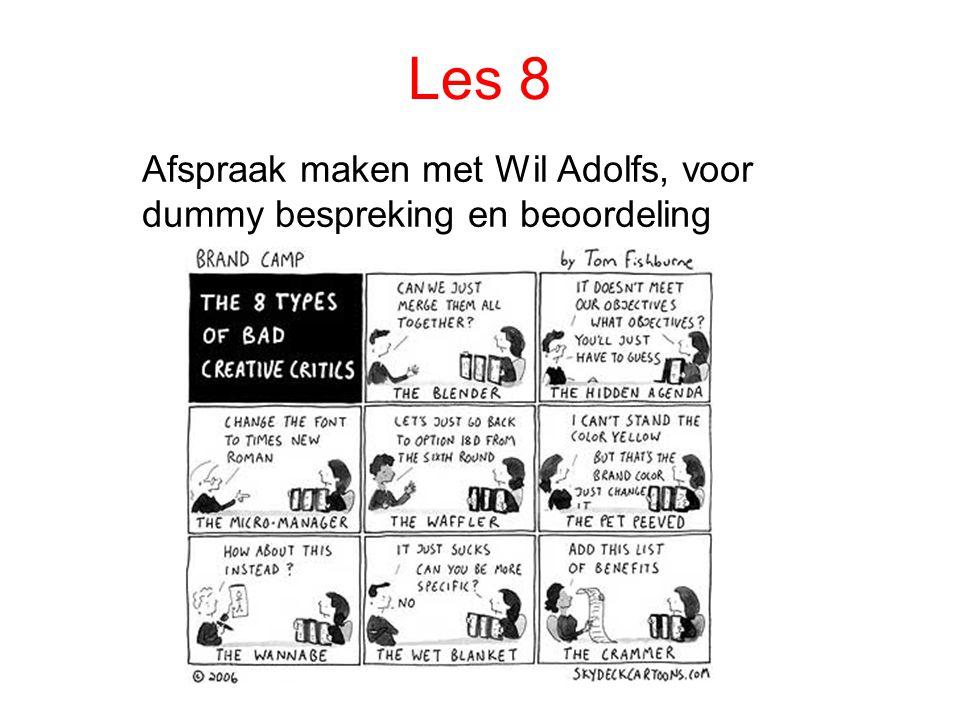Les 8 Afspraak maken met Wil Adolfs, voor dummy bespreking en beoordeling