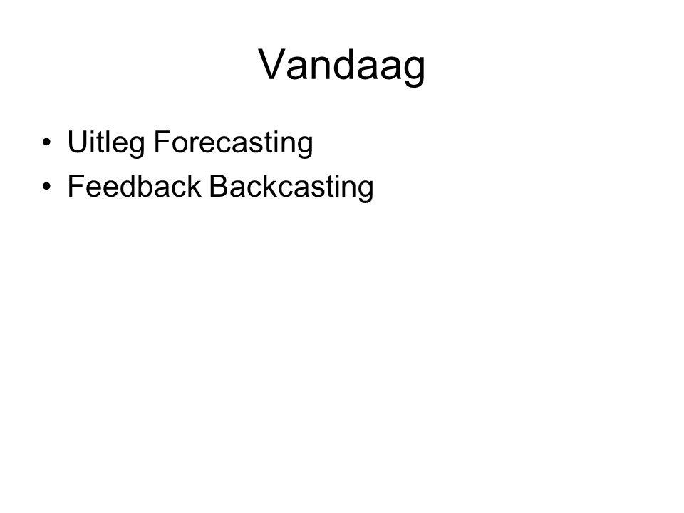 Vandaag Uitleg Forecasting Feedback Backcasting