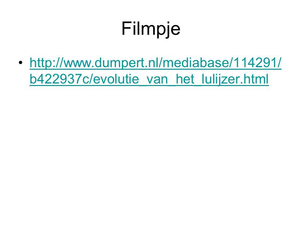Filmpje http://www.dumpert.nl/mediabase/114291/ b422937c/evolutie_van_het_lulijzer.htmlhttp://www.dumpert.nl/mediabase/114291/ b422937c/evolutie_van_h