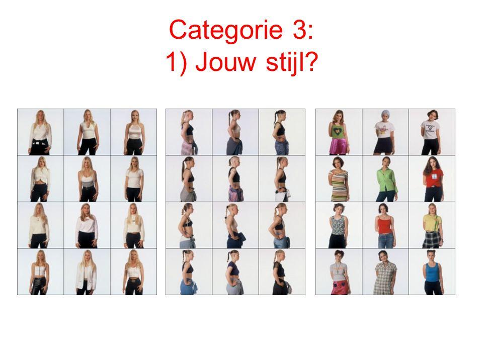 Categorie 3: 1) Jouw stijl?