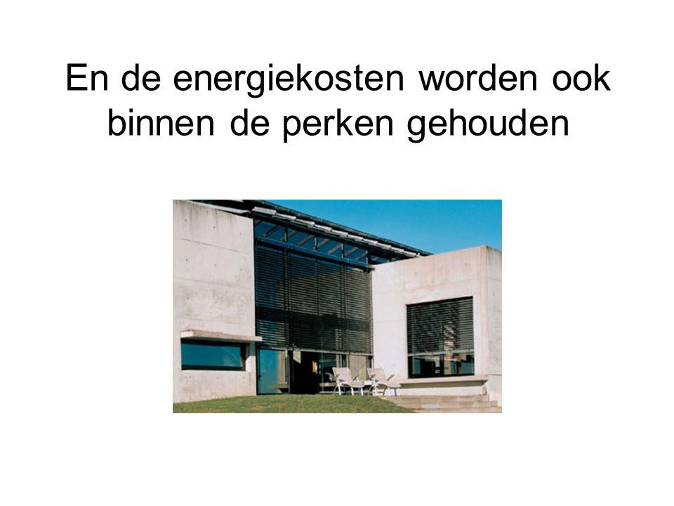 En de energiekosten worden ook binnen de perken gehouden