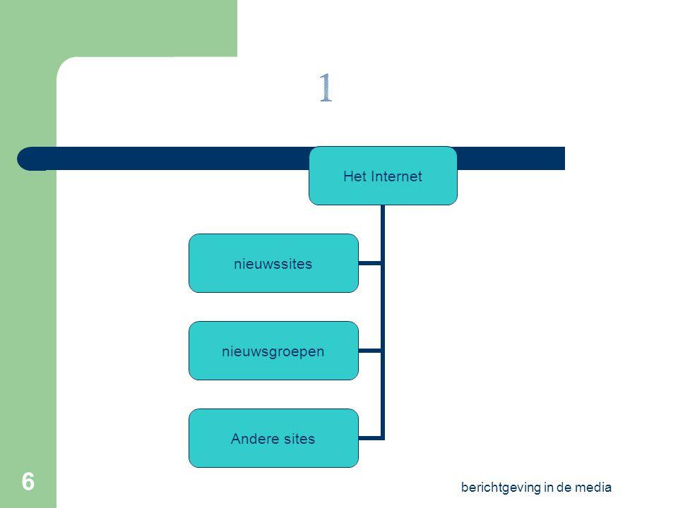 berichtgeving in de media 5 algemeen Subjectief en objectief Soorten nieuws media Bronnen en deontologie