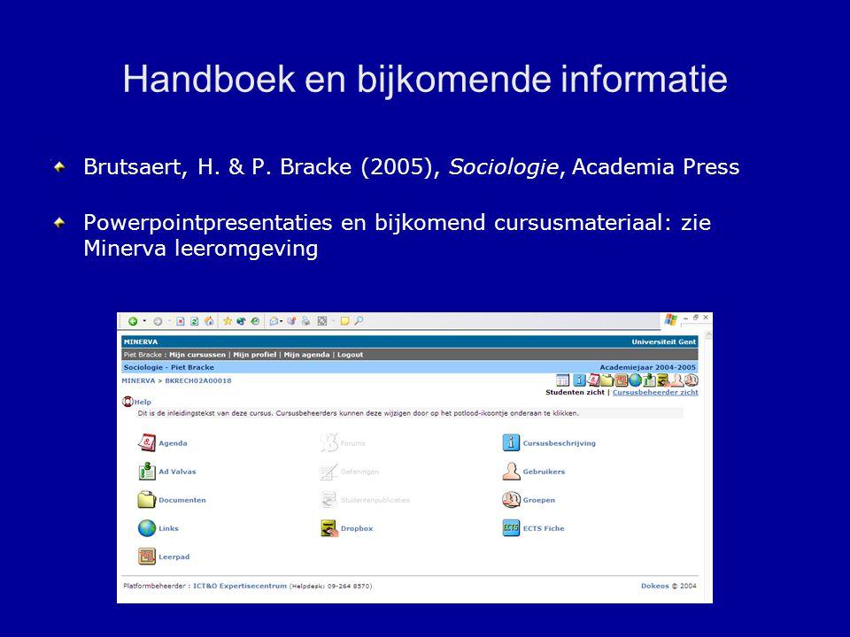 Handboek en bijkomende informatie Brutsaert, H.& P.