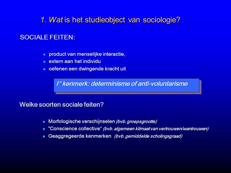 1.Wat is het studieobject van sociologie.