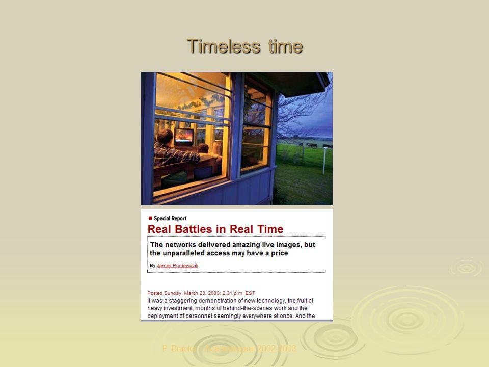 P. Bracke – Academiejaar 2002-2003 Timeless time