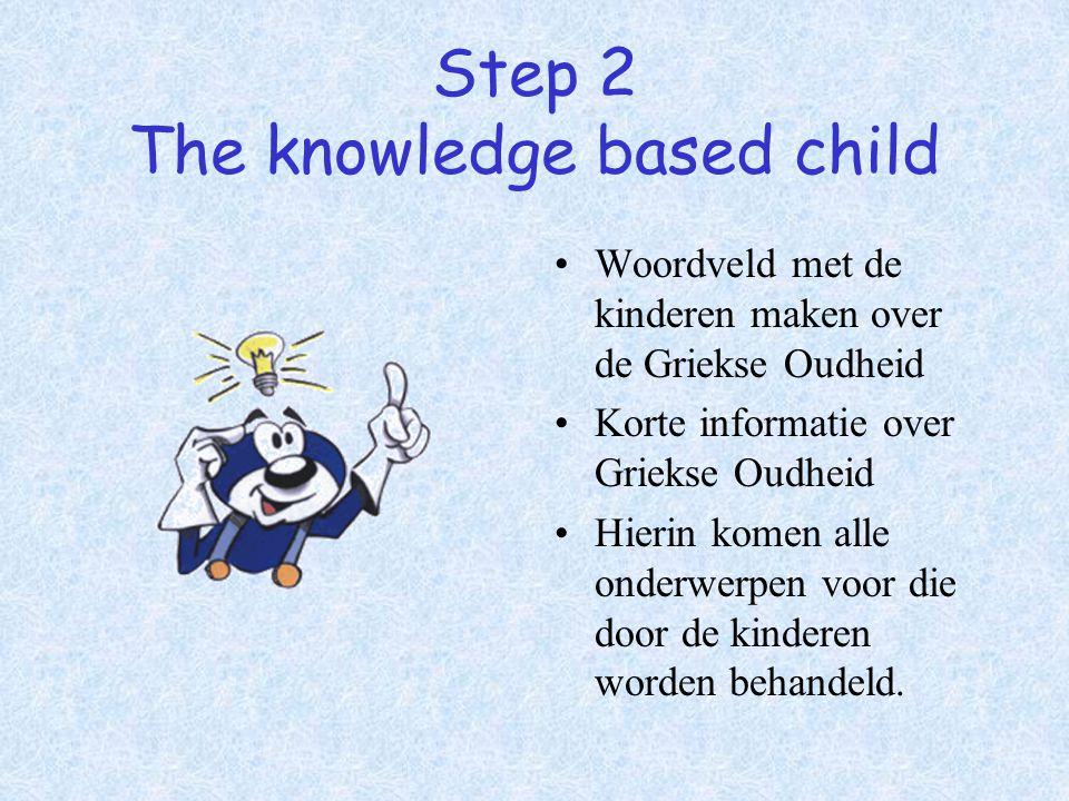 Step 2 The knowledge based child Woordveld met de kinderen maken over de Griekse Oudheid Korte informatie over Griekse Oudheid Hierin komen alle onder