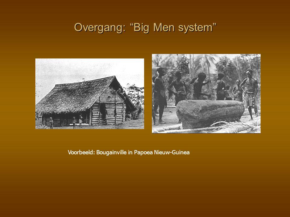 """Overgang: """"Big Men system"""" Voorbeeld: Bougainville in Papoea Nieuw-Guinea"""
