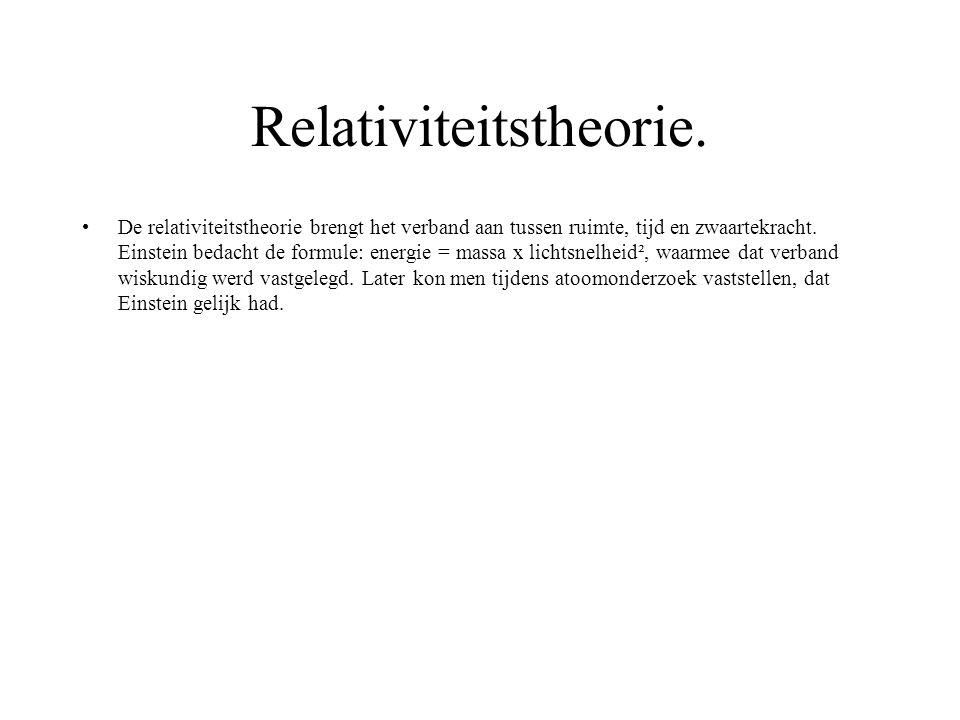 Relativiteitstheorie.