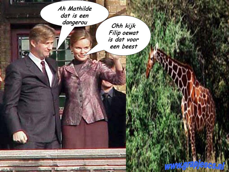 Filip & Mathilde zijn op weg naar een safaripark