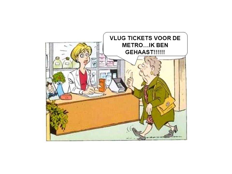 VLUG TICKETS VOOR DE METRO…IK BEN GEHAAST!!!!!!