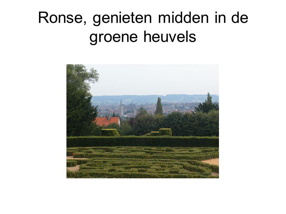 Ronse, genieten midden in de groene heuvels